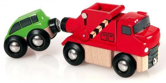 Грузовик Brio -эвакуатор с машинкой разноцветный