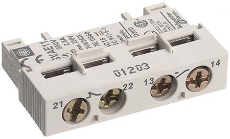 лучшая цена Дополнительный блок контактов но+нз Schneider Electric GVAE11