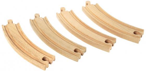 Железная дорога Brio полотно закруглённое 33342 каталки игрушки brio вертолет