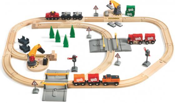 Железная дорога Brio с подъемниками, переездами, грузами и поездом с 3-х лет 33165 железная дорога brio моя первая железная дорога с мостиком с 18 месяцев 33727