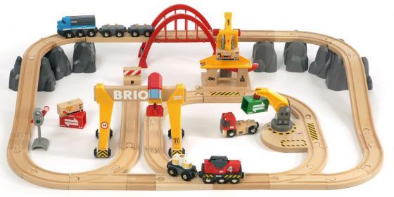 Грузовая железная дорога Brio Люкс 33097 brio brio железная дорога для малышей классика делюкс