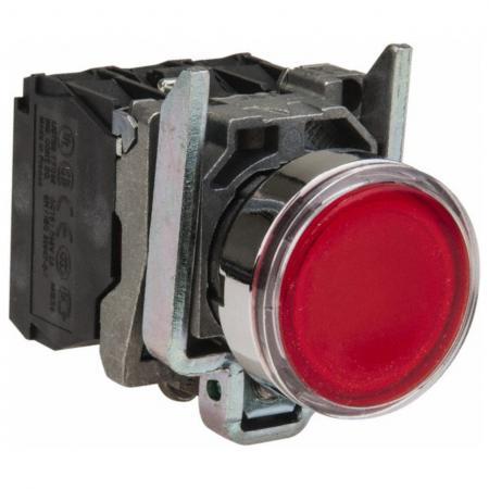 Кнопка Schneider Electric 22мм с возвратом красный XB7NA45 шторки для патч панелей schneider electric actassi 19 c красный 24шт vdim11u244