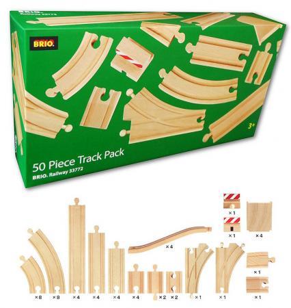 Набор Brio Рельсы для ж/д, 50 деталей 33772 игровой набор ж д с минифермой и кормушкой brio