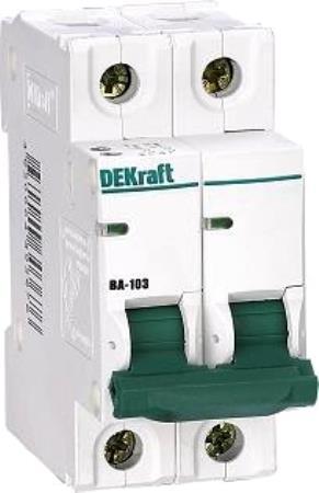 Автоматический выключатель Schneider Electric ВА103 2П 25A 12028DEK  автоматический выключатель schneider electric ва103 1n 6a c 12180dek