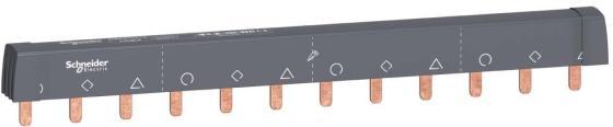 Шинка гребенчатая Schneider Electric 12 модулей 18мм A9XPH312 щиток навесной schneider electric kaedra для 24 модулей пластиковый ip65