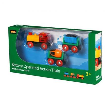Поезд  Brio  Грузовой с бетономешалкой и грузом угля brio поезд 33595