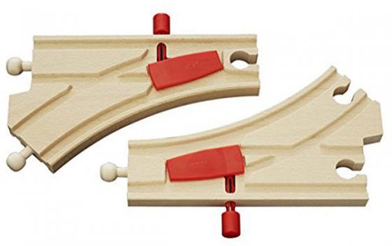 Железная дорога Brio Железнодорожное полотно с переключателем направления с 3-х лет 33344 железные дороги brio железная дорога с автодорогой и переездом