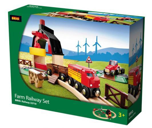 Железная дорога Brio с мини-фермой и кормушкой с 3-х лет 33719 железная дорога brio моя первая железная дорога с мостиком с 18 месяцев 33727