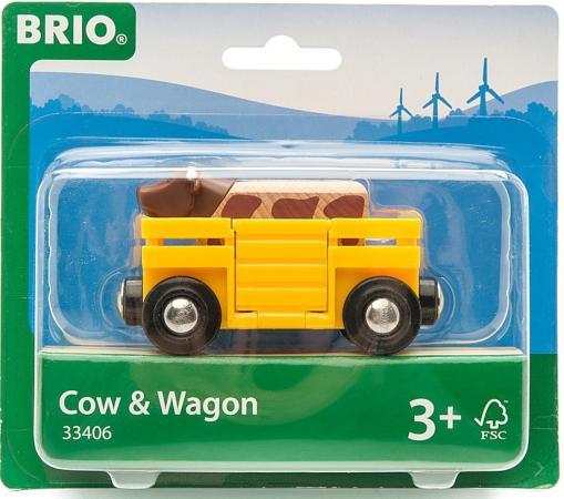 Вагон Brio с коровой brio погрузчик с подъемником