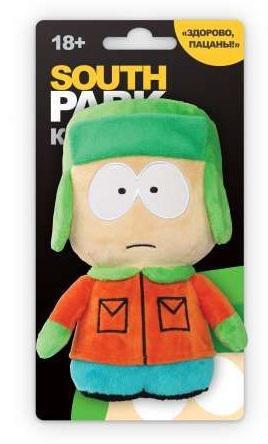 Мягкая игрушка герой мультфильма 1TOY Южный парк - Кайл со звуком 12 см разноцветный текстиль Т57486