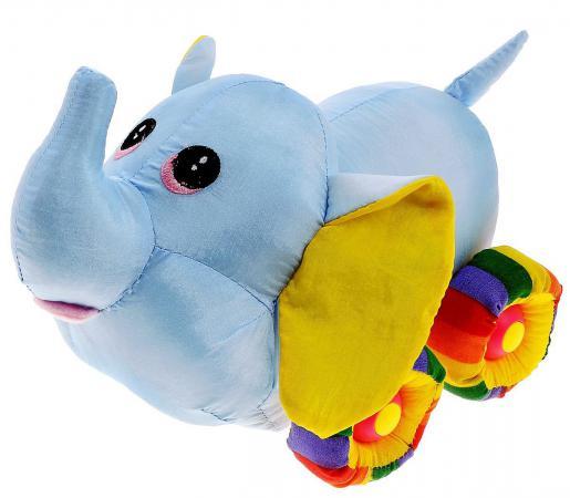 Мягкая игрушка слоненок Tongde Радужный транспорт 25 см голубой В72433 мягкая озвученная игрушка tongde фронтальный погрузчик в72429