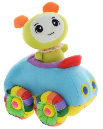 Мягкая игрушка машинка Tongde Радужный транспорт 18 см разноцветный В72426 мягкая озвученная игрушка tongde фронтальный погрузчик в72429