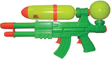 Водный пистолет Тилибом с двумя отверстиями и двумя курками для мальчика Т80373