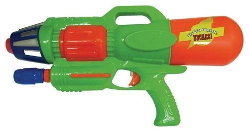 Водный пистолет Тилибом с помпой 44см для мальчика зеленый