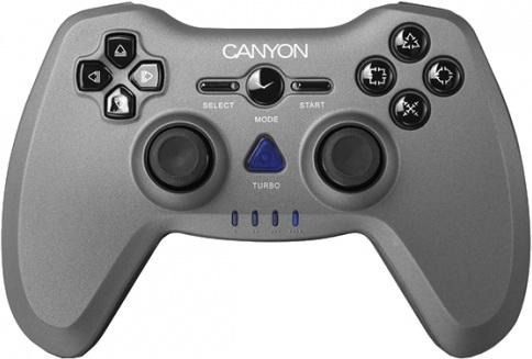 Геймпад Canyon CNS-GPW6 геймпад canyon cns gpw6 3in1 wireless gamepad up to 8 hours of play time transmission distance up to 10m rubberized finishing dual shock vibration