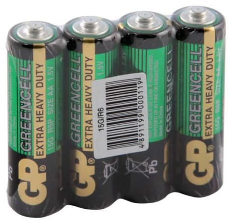 Батарейки GP 15G-OS4/GP15G-2CR4 AA 4 шт gp greencell 15g aa