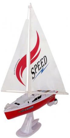 Катер на радиоуправлении Shantou Gepai Парусная яхта белый от 3 лет пластик 3688B каталка на палочке shantou gepai карусель петушки от 3 лет разноцветный пластик с ручкой