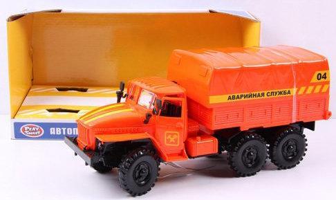 Аварийная служба Play Smart Автопарк оранжевый 8887856414418 аварийная служба play smart автопарк инерц машина со светом и звуком откр дверь 27х14х11см