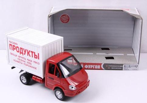 Фургон Play Smart Газель Продукты инерционный со светом и звуком 24 см Р40514 игрушка play smart газель 3221 пожарная р40526