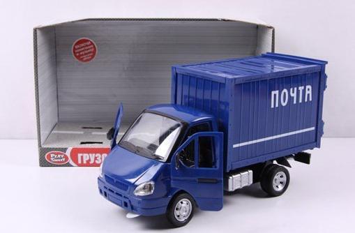 Фургон Play Smart Газель Почта инерционный со светом и звуком 24 см синий Р40517 автомат play smart снайпер р41399
