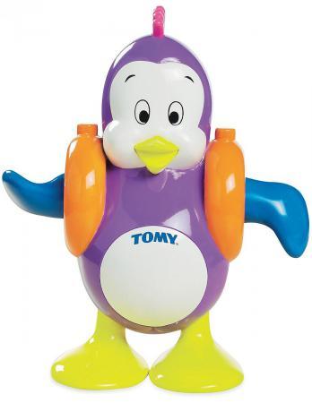 Заводная игрушка для ванны Tomy Плескающийся Пингвин ТО2755 tomy трактор john deere 6830