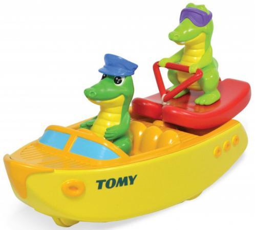 Игрушка для купания для ванны TOMY Крокодил на водных лыжах ТО72358 tomy tomy игрушка для ванны щенок на лодке