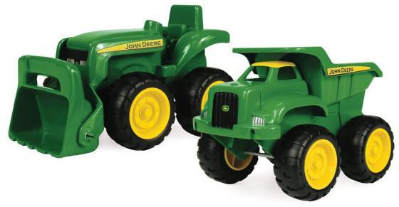 Игровой набор Tomy John Deere Трактор и самосвал 2 шт 12 см зеленый TO42952 машины tomy трактор john deere 6830