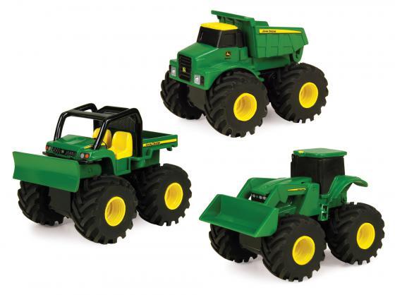 Строительная техника Tomy John Deere Mоnster Treads 10 см ТО37650 в ассортименте машины tomy трактор john deere monster treads с большими резиновыми колесами