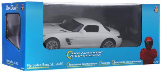 Машинка на радиоуправлении Top Gear Mercedes Benz SLS от 3 лет пластик Т56691 1toy mercedes benz m350 1 24 top gear с зарядным устройством