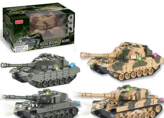 Zhorya танк на бат.  4 вида свет, звук 20х11х13 см Х75205 zhorya zhorya танк на радиоуправлении в ассортименте