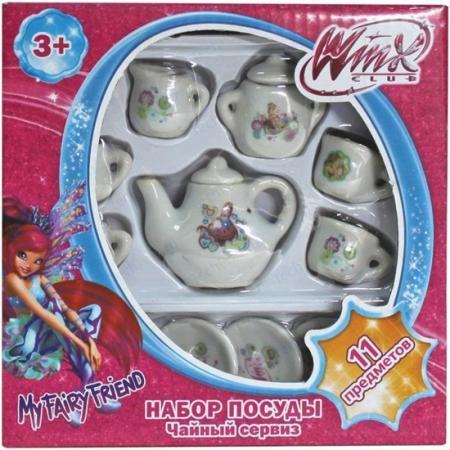 Набор посуды 1toy Винкс фарфоровая 11 предметов, Т56344