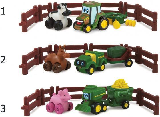 Игровой набор Tomy Johnny Tractor and Friends - Приключения на ферме ассортимент ТО37722АМ6 трактор tomy john deere зеленый 19 см с большими колесами звук свет