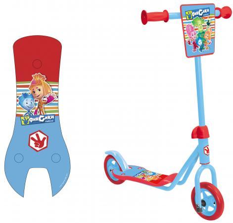 Самокат двухколёсный 1TOY Фиксики голубой 8887856584111 1toy самокат spider man