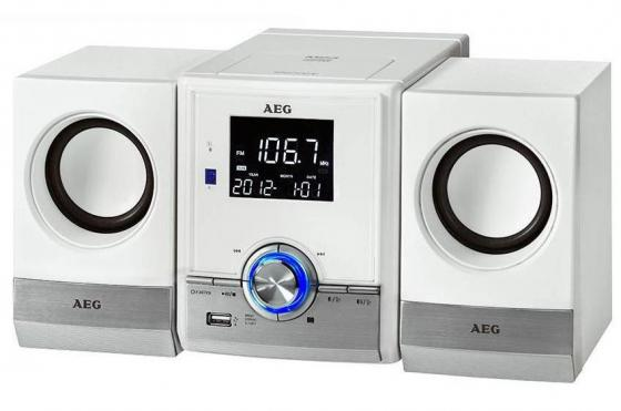 Микросистема AEG MC 4461 BT белый aeg mr 4139 bt schwarz bluetooth радиоприемник