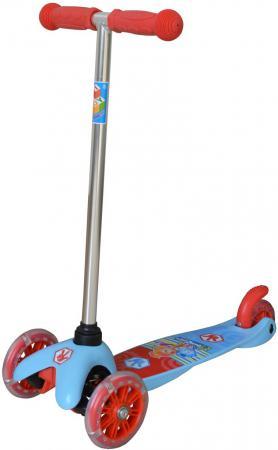 Самокат трехколёсный 1TOY Фиксики голубой Т58463 самокат детский трехколесный 1 toy фиксики со светящимися колесами цвет голубой т58463