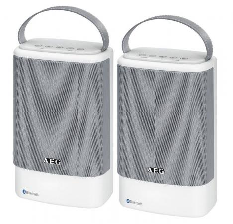 Bluetooth-аудиосистема AEG BSS 4833 бело-серый bluetooth аудиосистема aeg bss 4827 anthracite серый