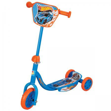 Самокат трехколёсный 1TOY Hot Wheels с декоративной панелью голубой самокат 1toy hot wheels 150 мм синий