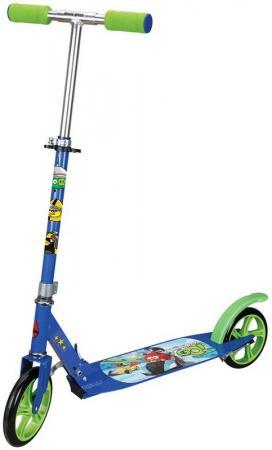 Самокат двухколёсный 1TOY Angry Birds Go синий Т57646 ледянки 1 toy angry birds 94 см т56333