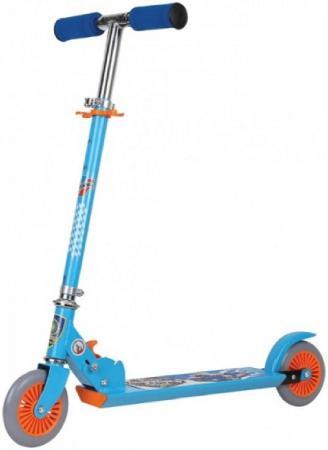 Самокат двухколёсный Navigator Hot Wheels голубой Т57590 самокат двухколёсный 1toy фиксики голубой 8887856584111