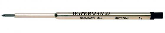 Стержень шариковый Waterman Refill BP Standard Maxima черный F 1964017 стержень для шариковых ручек waterman refill bp standard maxima f чернила черные 1964017