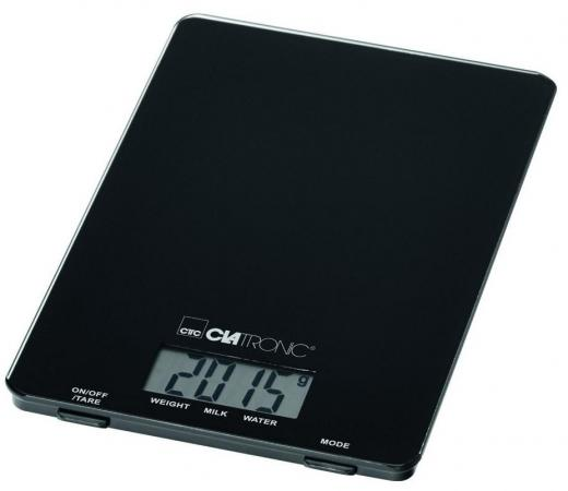 Весы кухонные Clatronic KW 3626 чёрный кухонные весы clatronic kw 3626 glas schwarz