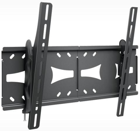 Кронштейн Holder LCDS-5071 черный для ЖК ТВ 37-55 настенный от стены 63мм наклон +3? – 15? VESA 200x200 до 45кг holder lcds 5065 black gloss кронштейн для тв