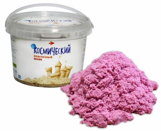 Кинетический песок 1toy Космический песок 1 цвет розовый Т57726