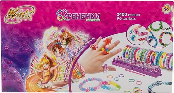 1toy Winx фенечки наб.10 цветов,2400 рез.,шармы,бисер,96 застёж.,1 крючок,3 станка д.плетения,48х26х5см,кор. Т58333