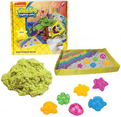 1toy Губка Боб, космический песок, жёлтый, 1 кг, набор песочница и формочки Т58202 кинетический песок космический пластичный песок космический песок жёлтый 3 кг набор песочница и формочки