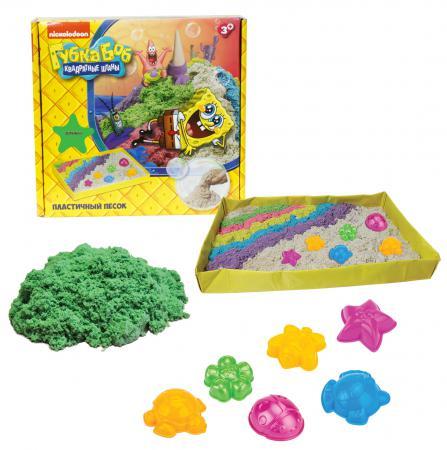 1toy Губка Боб, космический песок, зелёный, 1 кг, набор песочница и формочки Т58201 спортивные игровые наборы 1toy набор для бокса губка боб