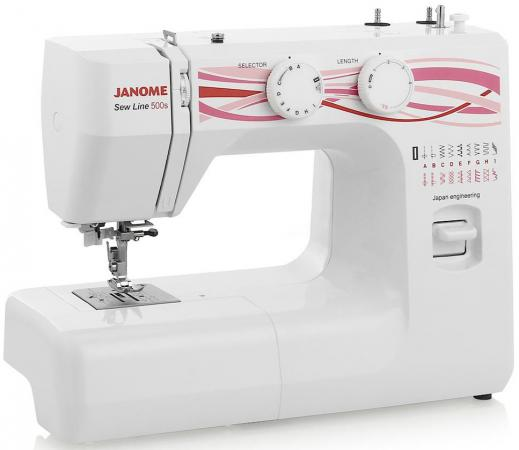 Швейная машина Janome 500s белый швейная машинка janome sew line 500s