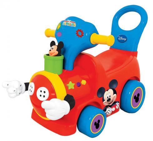 Каталка-пушкар Kiddieland Поезд с Микки Маусом пластик от 18 месяцев музыкальная красный 043901 пушкары kiddieland каталка пушкар поезд с микки маусом