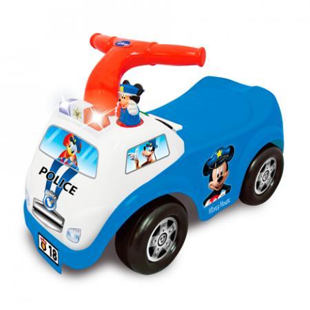 Каталка-пушкар Kiddieland Полицейская машина Микки Мауса пластик от 1 года музыкальная синий