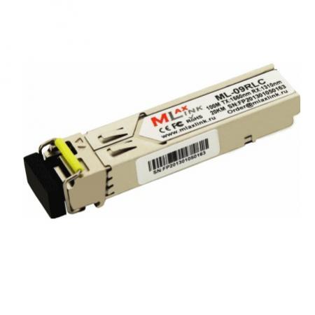 Трансивер MlaxLink ML-09RLC  оптический одноволоконный SFP-WDM-20 км-1550/1310 нм-155 Мб/с